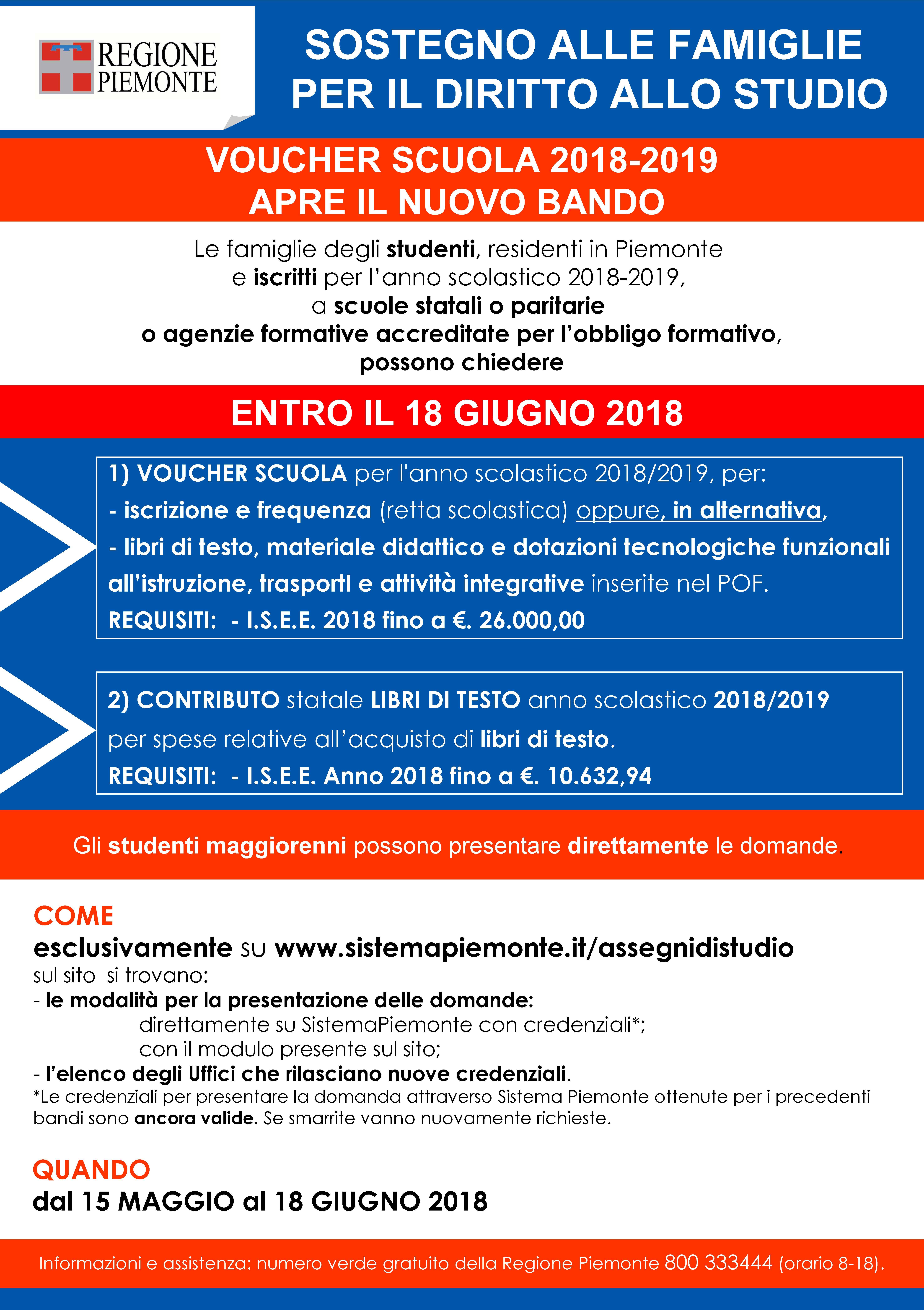 8a0be55ad6 AIUTI ECONOMICI ALLE FAMIGLIE PER IL DIRITTO ALLO STUDIO | Canale