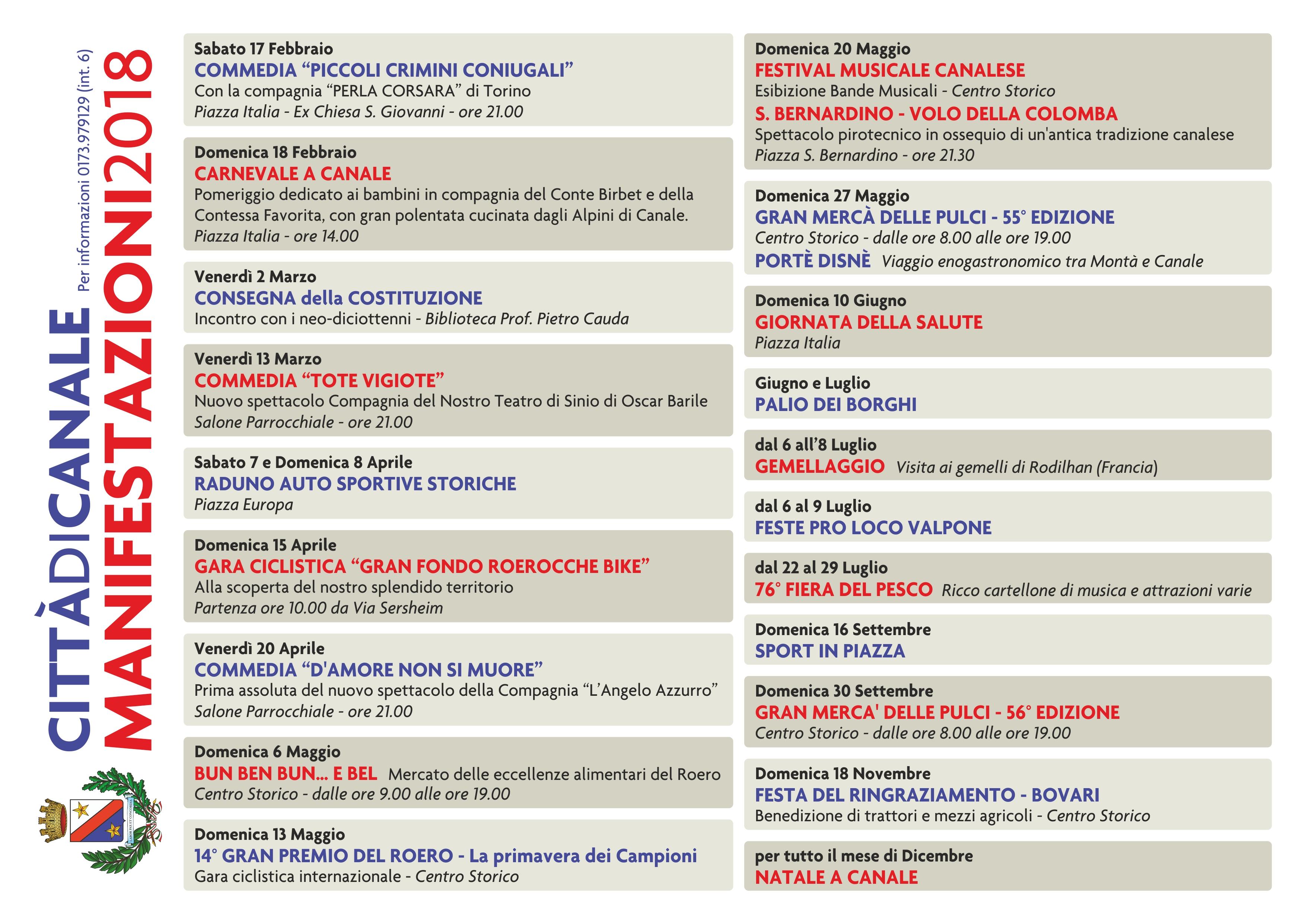 Calendario Manifestazioni Trattori D Epoca.Calendario Eventi Canale